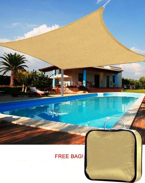 garden canopy. Jinguan Net 98% UV-blocked Square 10\u0027x10\u0027 Sun Sail Shade Patio Garden Canopy