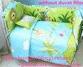 Promoción! 6 / 7 unids caliente bebé cuna del lecho del algodón puro cortina cuna parachoques, 120 * 60 / 120 * 70 cm