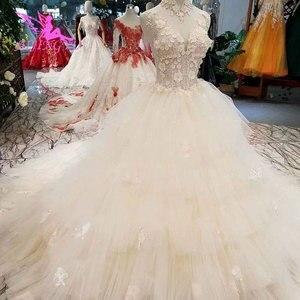 Image 2 - Aijingyu simples vestido de casamento vestidos em marfim noivado líbano simples venda nupcial um vestido de luxo vestidos de casamento