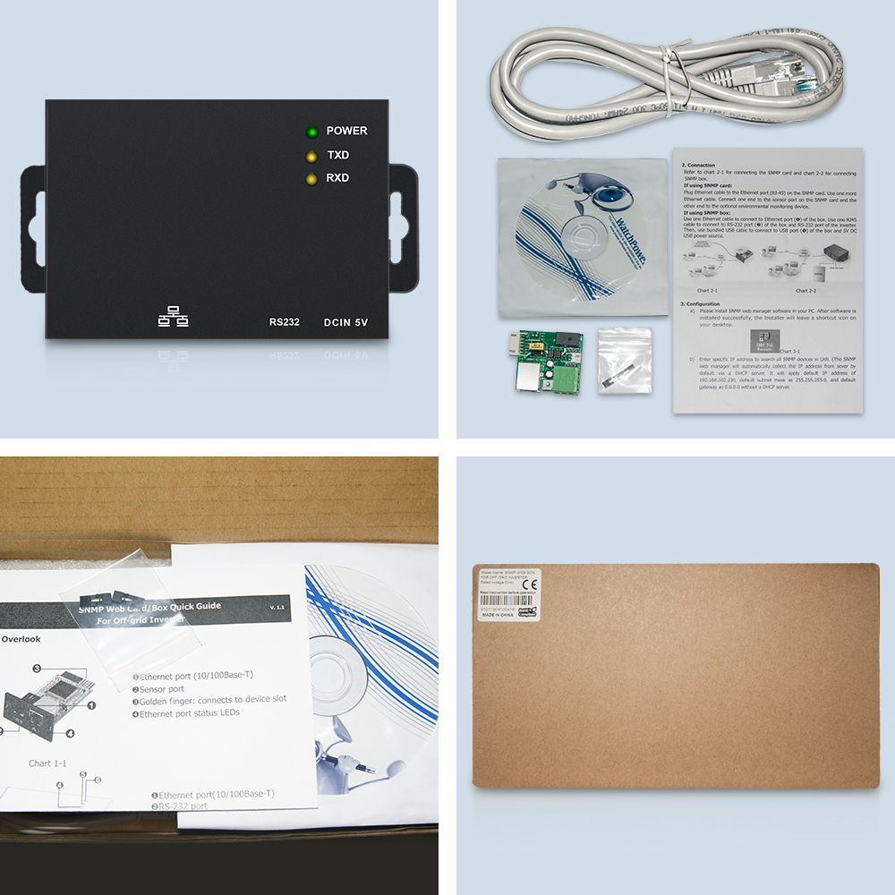 EASUN POWER SNMP External Web Box Remote Monitoring Solution For Off Grid  Solar Inverter ISolar SP SM 1 5KVA SM Plus SMD SMT-in Inverters &  Converters from ...