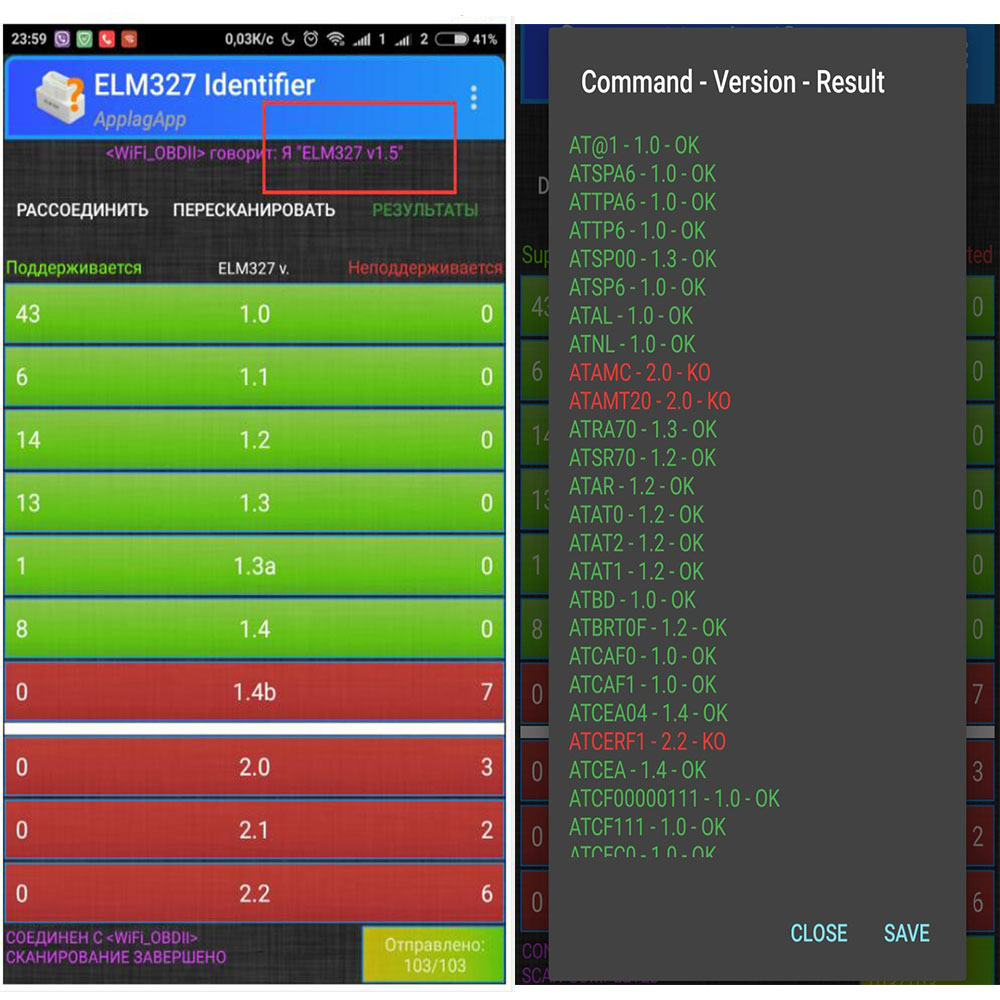 ELM327 WiFi Bluetooth V1.5 PIC18F25K80 чип OBDII диагностический инструмент для IPhone/Android/PC ELM 327 V 1,5 автоматический сканер Torque OBD