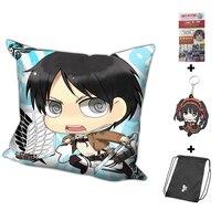 New Eren Jaeger Attack on Titan Anime Dakimakura 40 x 40cm Square Pillow Cover H0256