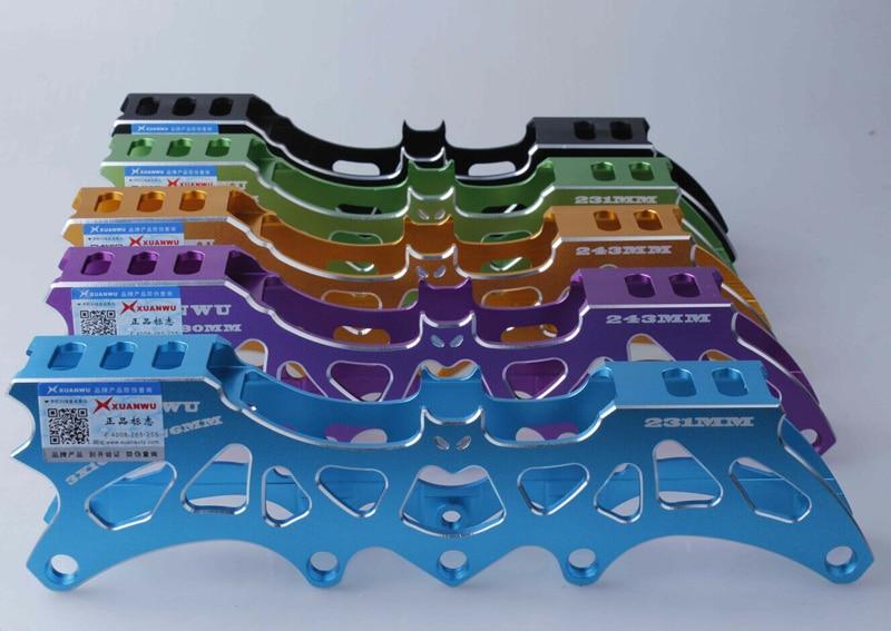 Prix pour Livraison gratuite patins à roulettes cadre 231 mm 243 mm fit pour vitesse de roue et roue FSK