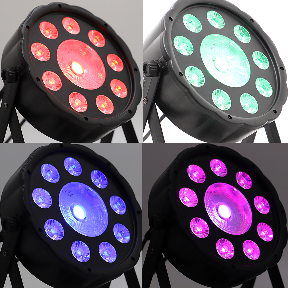 2pcs/lot High Class Led Par 150w Flat Cob Rgb 3in1 Led Cob 150w Dmx For Stage Lighting Professional For Dj Wedding Parties