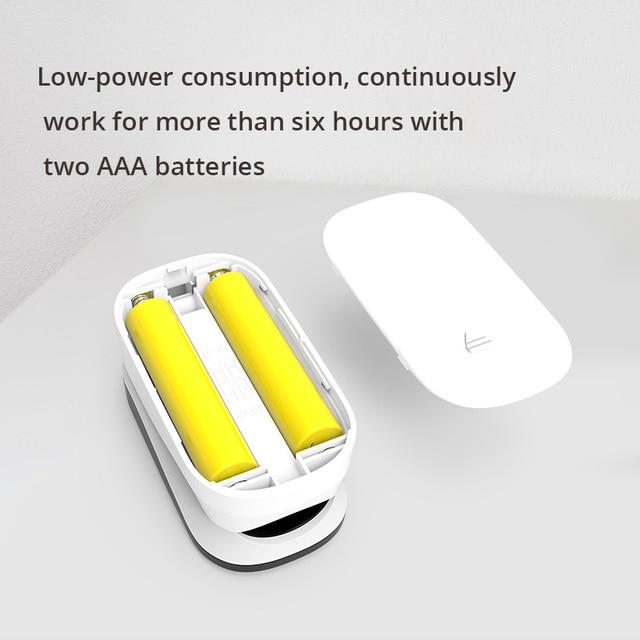 BOXYM Medical Finger Pulse Oximeter OLED Touch Full Screen blood oxygen Heart Rate Monitor Oximetro de dedo Saturometro Monitor 2