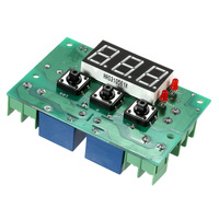 Adjustable Automatic Switch Thermostat 12V Temperature Controller 2 Channel Relay Output High Low Temperature Alarm