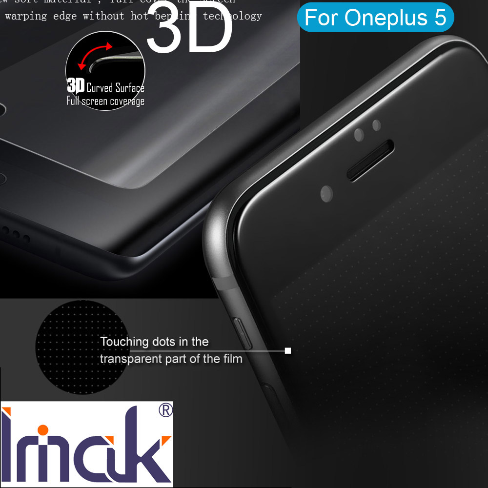 Imak 3D Tempered Glass Protective For Oneplus 5 Full Screen Cover Film Curved edge oleophobic