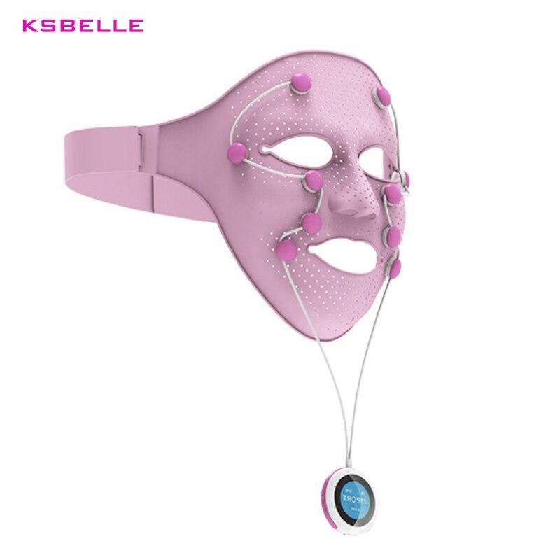 Nuovo Intelligente Silicone Maschera Facciale Massager Magnetico anti-aging Anti-Rughe Crow Piedi remover Occhio Tonificante Ferma viso strumenti maschera