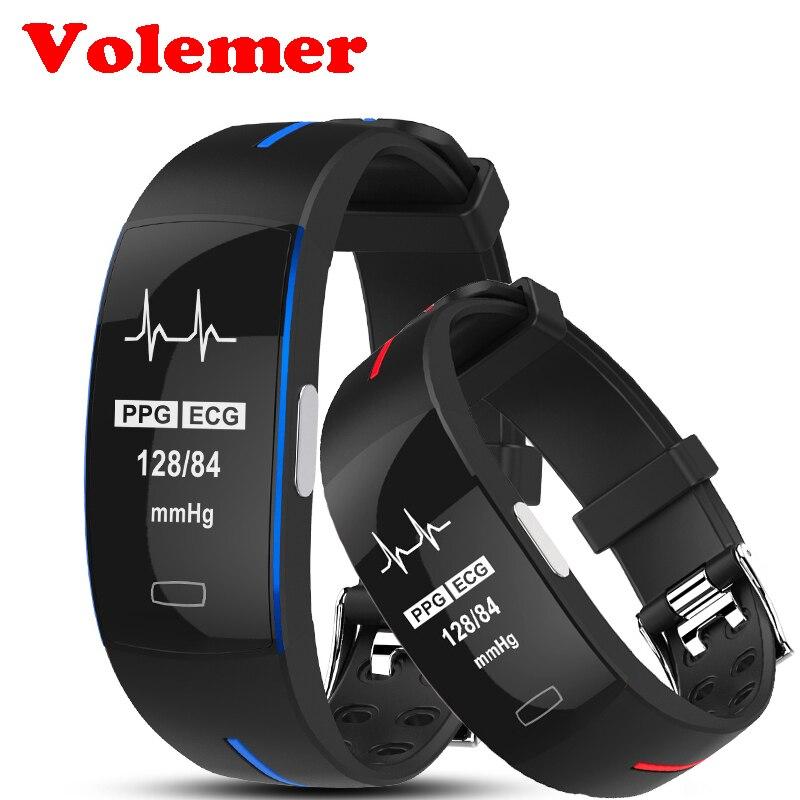Volemer P3 ECG + PPG Pressione Sanguigna Monitoraggio della frequenza cardiaca Banda Intelligente Cardiofrequenzimetro Intelligente Wristband Sport Intelligente Fitness Braccialetto