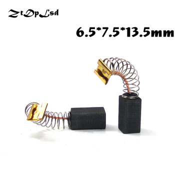 цена на ZtDpLsd 2 Pcs/Pair 6.5x7.5x13.5mm Mini Drill Electric Grinder Replacement Carbon Brushes Spare Part for Electric Rotary Tool 41#