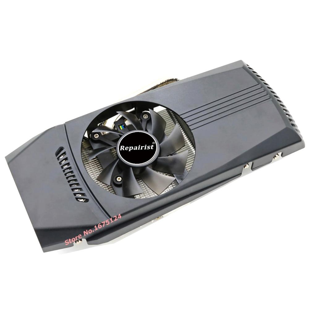 Ordinateur refroidisseur radiateur avec radiateur heatpipe ventilateur de refroidissement pour ASUS GTX460/550Ti/560 HD6790 grahics carte VGA remplacement