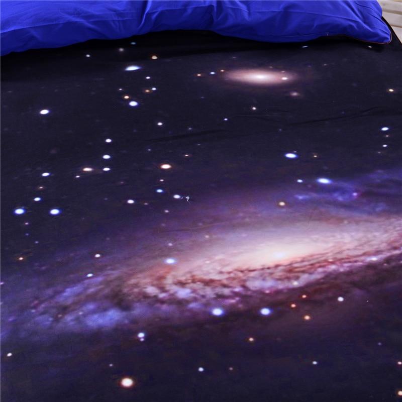 3D Galaxy Yataq dəsti ABŞ-ın Əkiz Tam Kraliçası King Ölçüsü - Ev tekstil - Fotoqrafiya 4