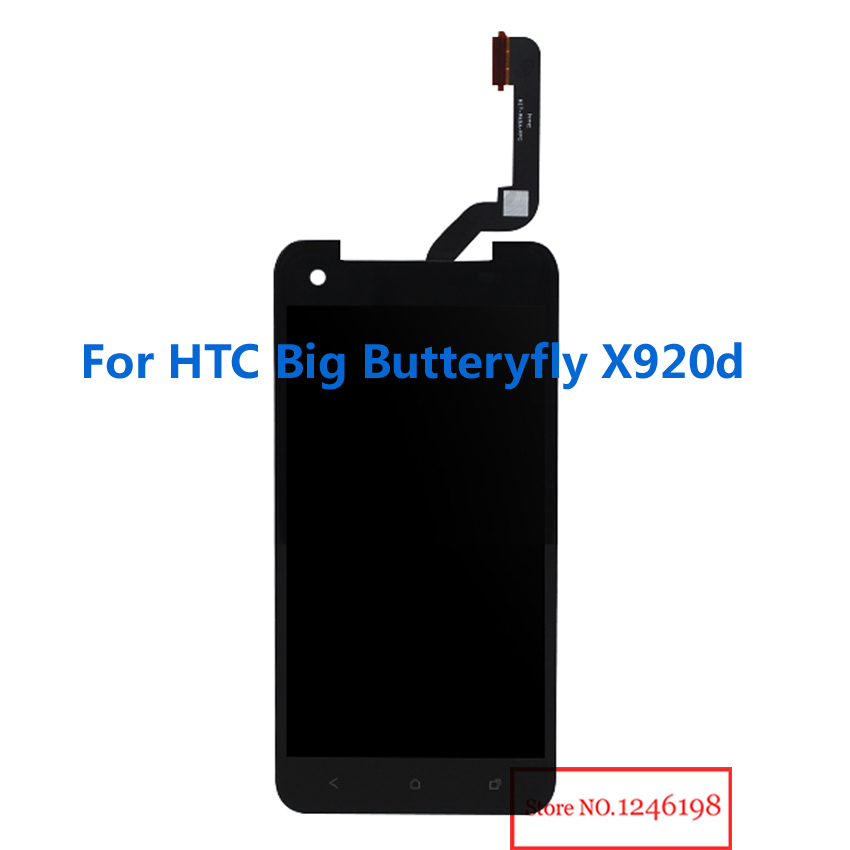 TOP Quality Full LCD Display Touch Screen Digitizer Assembly For HTC Big Butterfly X920d Phone Replacement Parts