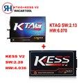 2017 Лучшая Цена KESS V2 V2.23 обновление V2.28 V4.036 Прошивки + FW V6.070 V2.13 KTAG К tag ECU Программист Инструмент DHL Бесплатная Доставка