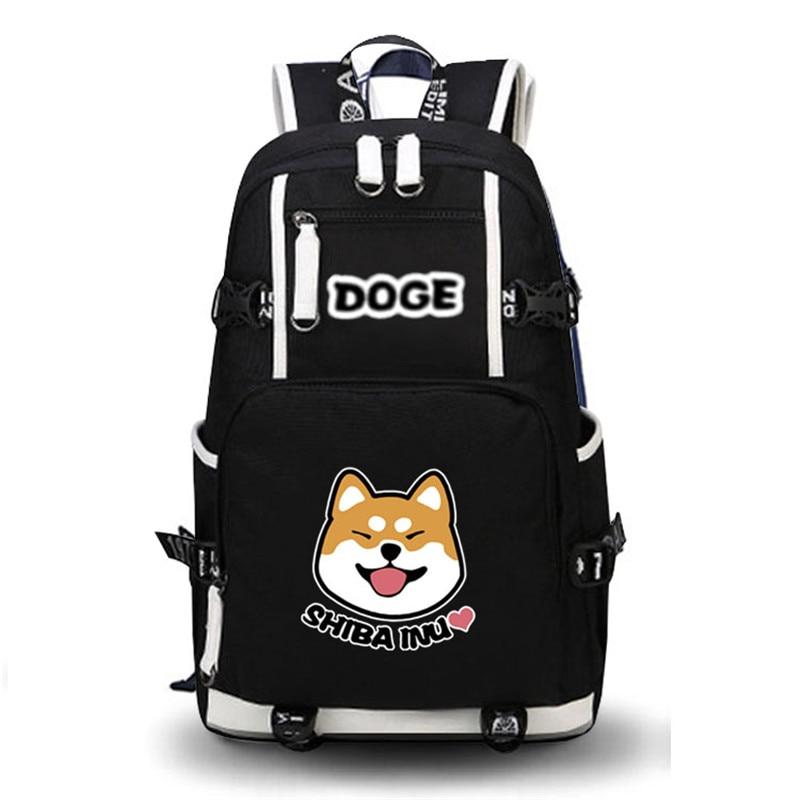 2017 High Quality Shiba Inu Kawaii Doge Emoji Printing Backpack School Bags Mochila Feminina Laptop Backpack Schoolbag Backpack