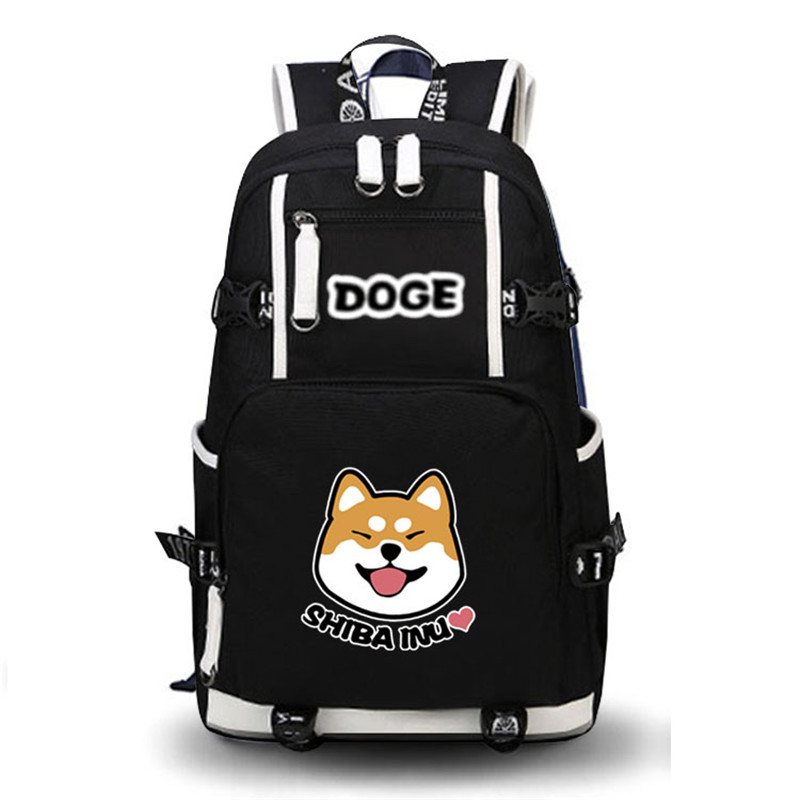2017 High Quality Shiba Inu Kawaii Doge Emoji Printing Backpack School Bags Mochila Feminina Laptop Backpack Schoolbag Backpack цена 2017