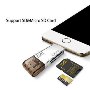 Image 3 - DM CR016 Blitz Micro SD/TF OTG Kartenleser USB 3.0 Speicher Mini Kartenleser für iPhone 6/7/ 8 Plus iPod iPad OTG Kartenleser