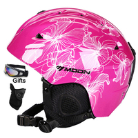 Moon Ski Helmet Winter Safety Women Men Child Skateboard Skiing Snowboard Helmet CE Certification 52 64