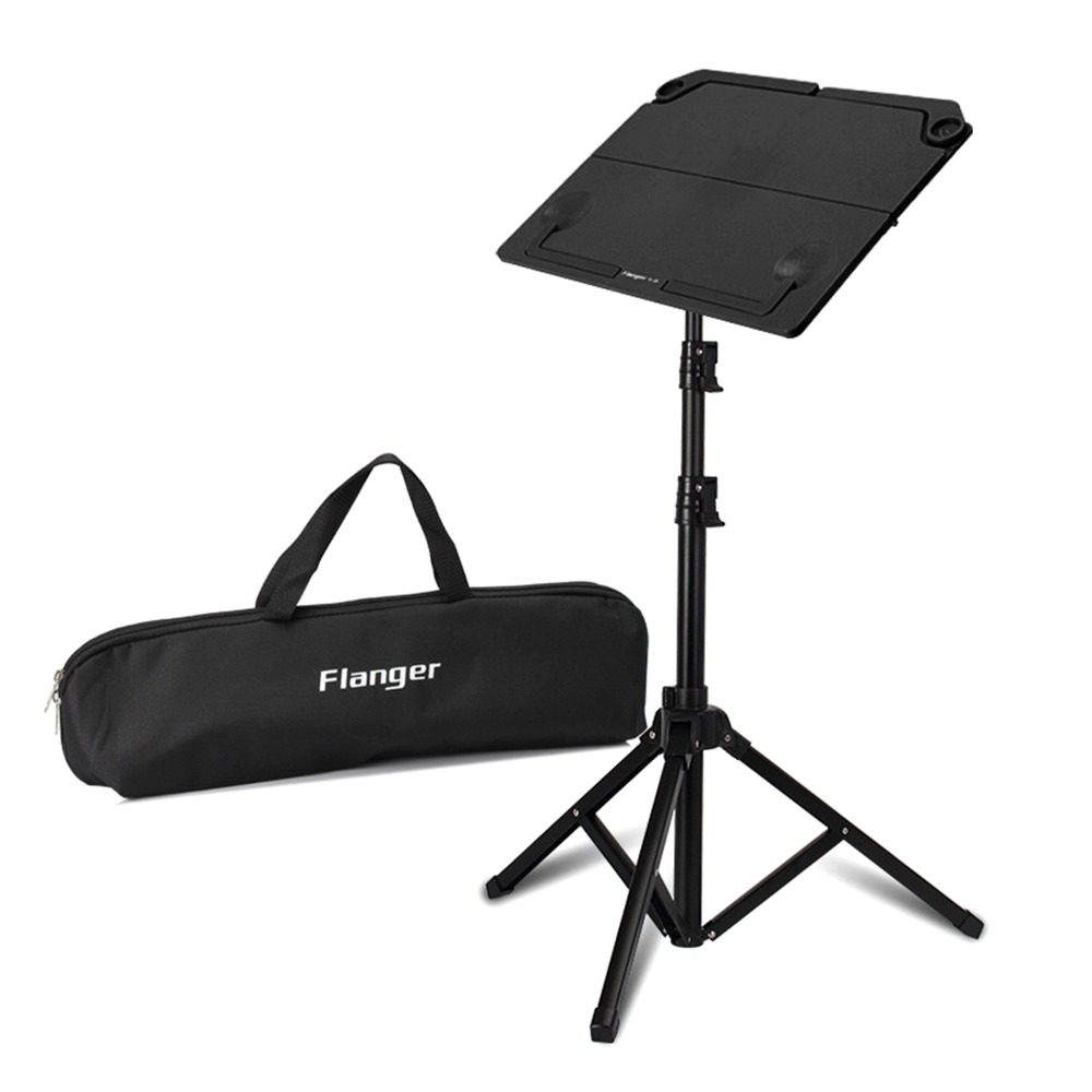 Russia sellwe!Black Flanger FL-05 Professional Telescopic Foldable Small Music Stand Musical Instrument Black m903 with Gig Bag