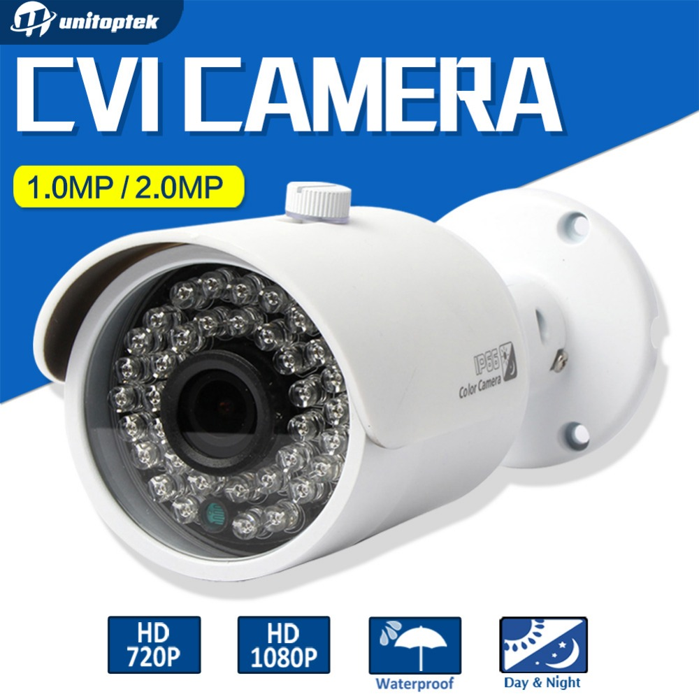 1.0MP HD CVI Camera 1080P Bullet 3.6mm Lens 36Pcs Leds IR Night Vision Waterproof Outdoor CCTV CVI Camera 720P For CVR DVR hd cvi array ir outdoor bullet security camera 6mm lens 1 0 mp night vision