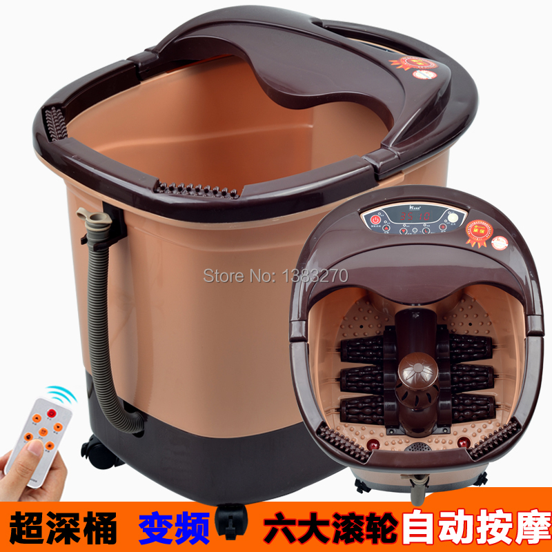 2018 hottest Foot bath fully-automatic electric heated massage feet basin electric foot care tool electric antistress therapy rollers shiatsu kneading foot legs arms massager vibrator foot massage machine foot care device hot