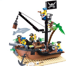 178pcs DIY Pirate Ship Building Blocks Bricks Educational Construction Boat Puzzle Toy Brand Compatible Gift