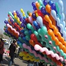 100Pcs สกรูบอลลูน Latex บอลลูนเกลียวหนายาวบอลลูนบาร์ KTV PARTY อุปกรณ์ Strip Shape บอลลูนของเล่น