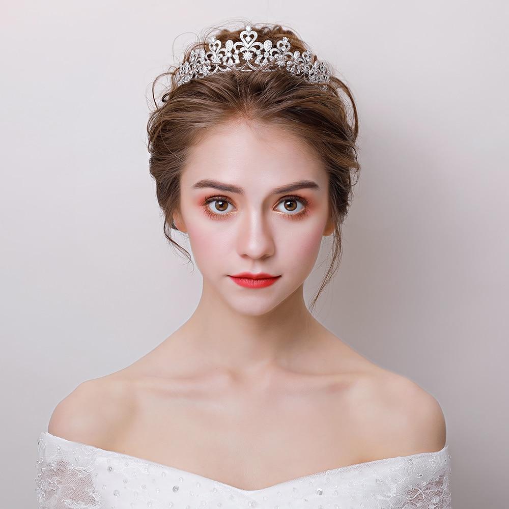 Retro Wedding Bridal Headband Hair Jewelry Micro Paved Cubic Zirconia Tiara Princess Crown Headdress Birthday Party Headpieces цена 2017