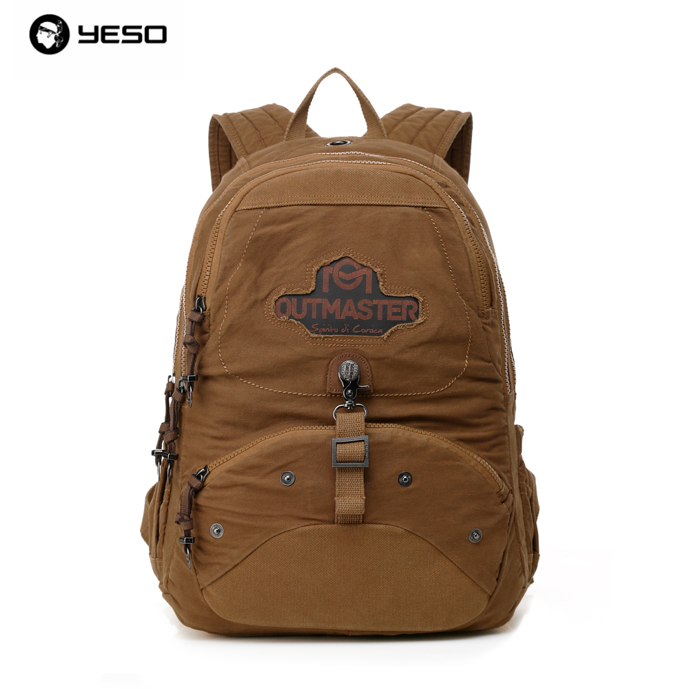 YESO Brand Vintage Style Men Retro Canvas Backpack College Students High School Boys Shoulder Leisure Bags Backpacking Bags