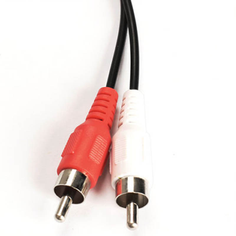 3.5mm 1/8 Inch Stereo Speakers Adapter Cables High Quality Female To 2 RCA Male Jack Adapters Audio Y Cable Splitter