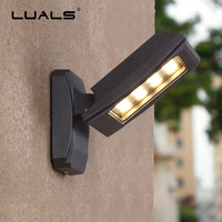 Waterproof Wall Lights Outdoor Wall Lamp Aluminum Modern LED Wall Light Luxury Villa Wall Lamps Adjustable Angle Art Lighting