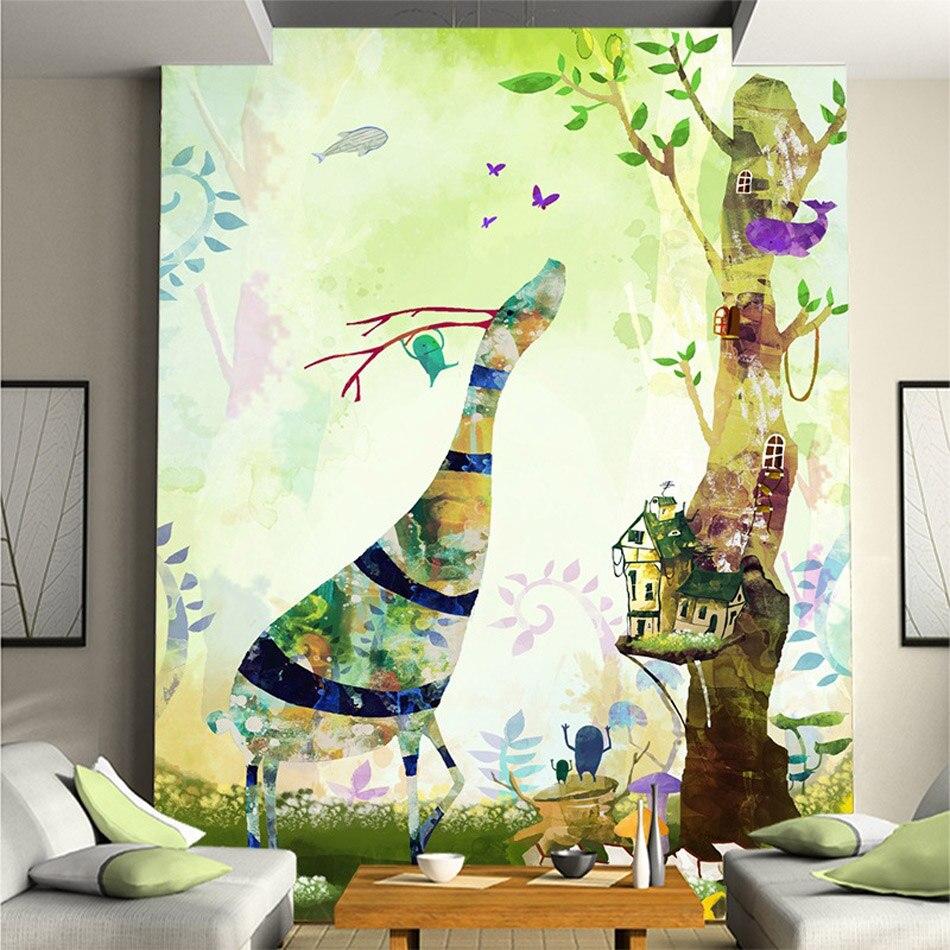 Nature animal deer diy 3d wallpaper wall mural rolls for Diy wall mural