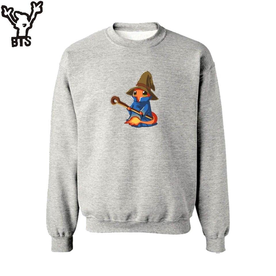 BTS Pokemon Go Charmander Wizard Sweatshirt Men Streetwear Design in Anime Pocket Monster Mens Hoodies and Sweatshirts Set 4XL