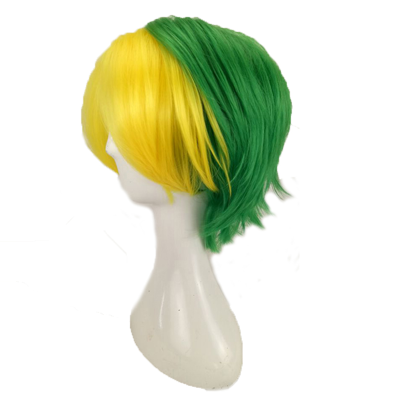 HAIRJOY Synthetic Hair Man Mint Green Layered Short Straight Male Cosplay Wig Free Shipping 5 Colors Available 64