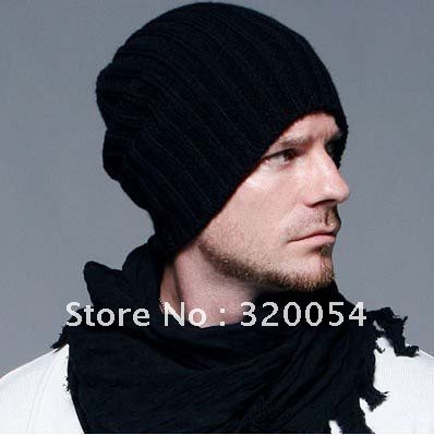 1pcs 2016 new Korean wool caps Winter fashion hats solid color knitted hats for men and women, multi-color, free shipping
