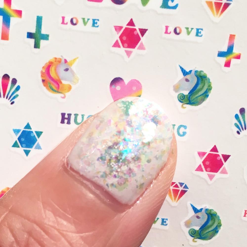 Płatki wielorazowe Płatki holograficzne UNICORN Płatki - Sztuka zdobienia paznokci - Zdjęcie 5