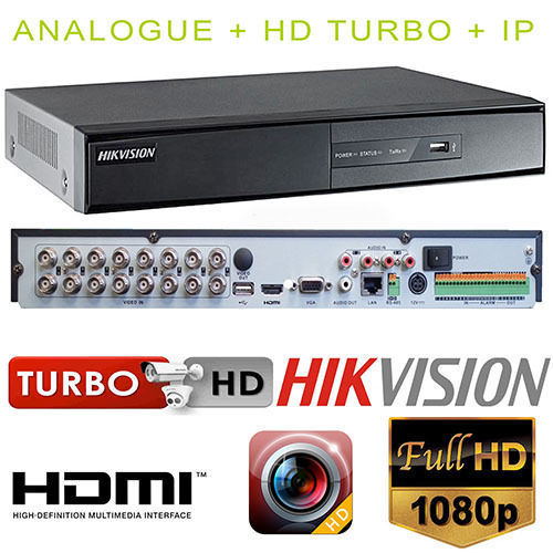 US $208 99 |Hikvision DVR Universal 16CH video HDTVI AHD CVBS 2IP 1CH audio  DS 7216HGHI F1-in Surveillance Video Recorder from Security & Protection