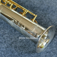 Янагисава S 9030 сопрано B (B) саксофон Латунь Посеребренная Tube Gold Key Sax для Sax Lover с Чехол, мундштук бесплатная доставка