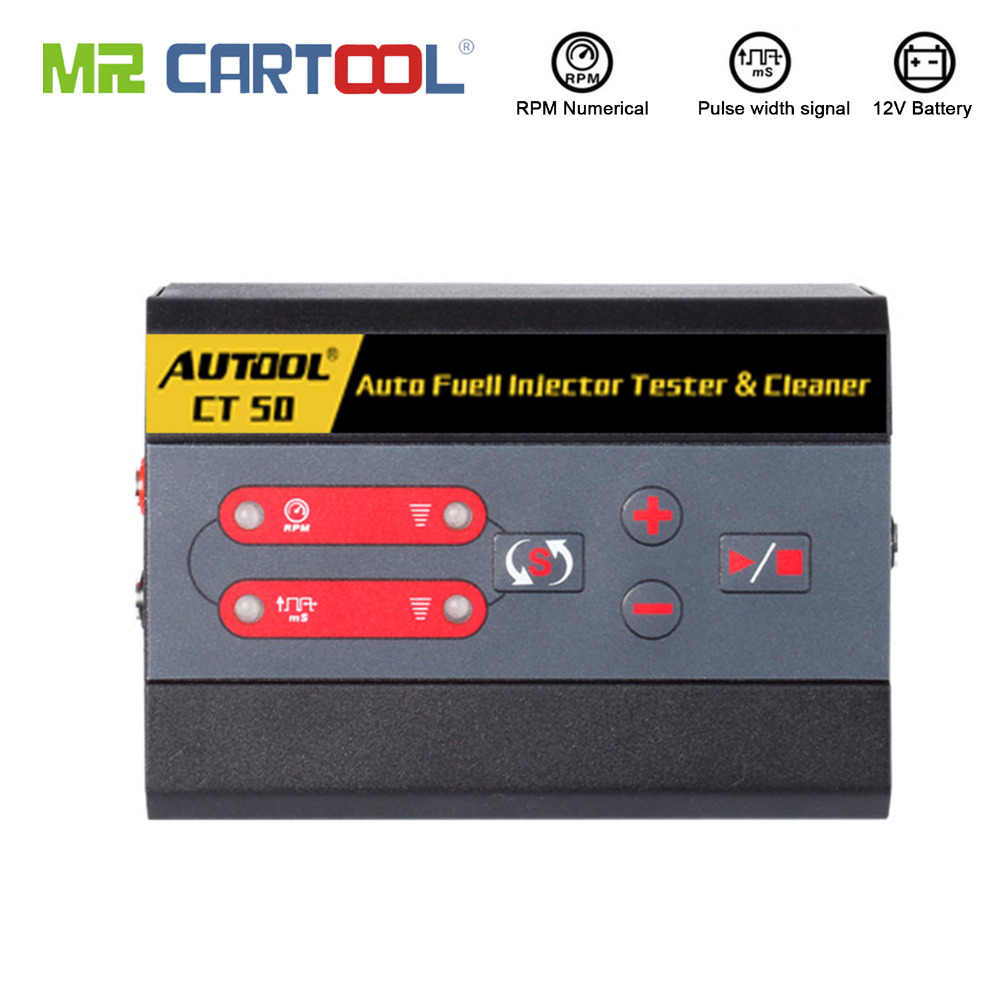 AUTOOL CT50 Car Fuel Injector Cleaning Machine Automotive Diesel Gas Injectors Nozzles Cleaner Tester Fuel Pump Pressure TestAUTOOL CT50 Car Fuel Injector Cleaning Machine Automotive Diesel Gas Injectors Nozzles Cleaner Tester Fuel Pump Pressure Test