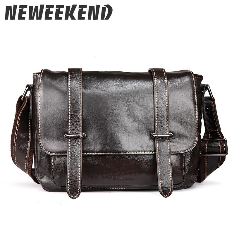 купить Men Genuine Leather Messenger Bags Designer Brand Vintage Crossbody Bags Laptop Bags Leisure Handbags Satchel Shoulder Bags 1049 онлайн
