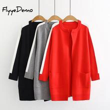 Casual Knitting Long Cardigan Female Loose Trench Coat Knitted Jumper 2019 Autumn Winter Warm Sweater Women Cardigan Plus Size fat mm sweater 2017 autumn winter the new fashion loose cardigan hooded thick knitting casual ms sweater coat m 5xl plus size a