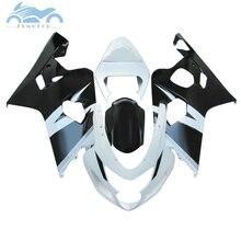 ABS kunststoff Verkleidung kits für SUZUKI 2004 2005 GSXR 600 R750 verkleidungen kit 04 05 GSXR 750 GSXR 600 K4 k5 weiß schwarz körper kits
