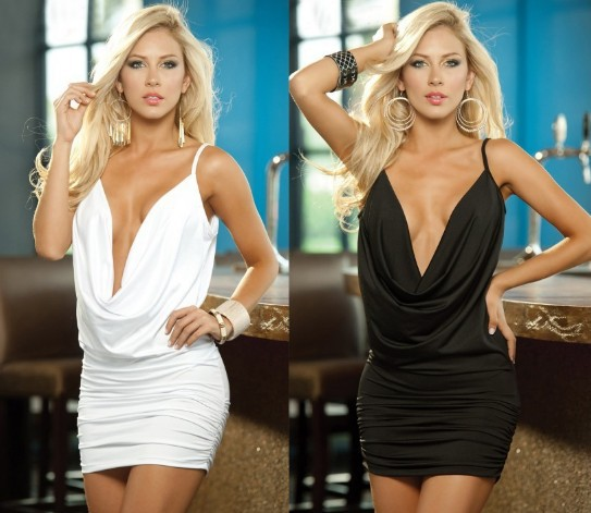 Short Plunging Dresses