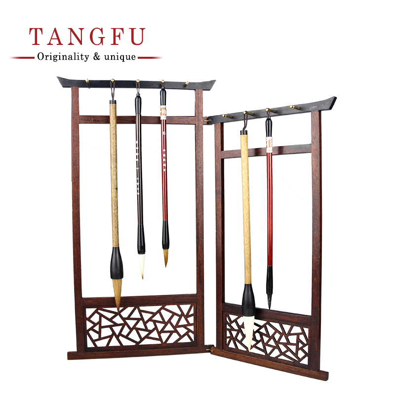 High Quality Brush Pen Holder High-grade timber Pen Rack Calligraphy Pen Holders wood supplies Frame Kits study and office decor authentic chicken wings wood small leading pen rack high grade chinese brush rack four treasures of calligraphy