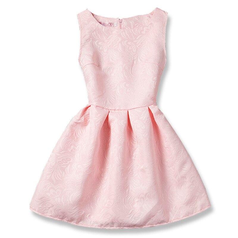 Formais Vestidos Da Menina de Verão Sem Mangas Princesa Vestido de Festa Roupa Dos Miúdos Do Bebê Crianças Vestido para Meninas Vestidos Casuais