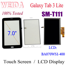 WEIDA LCD Replacment 7 For Samsung GALAXY Tab 3 Lite 3G SM-T111 Display Touch Screen Separately BA070WS1-400
