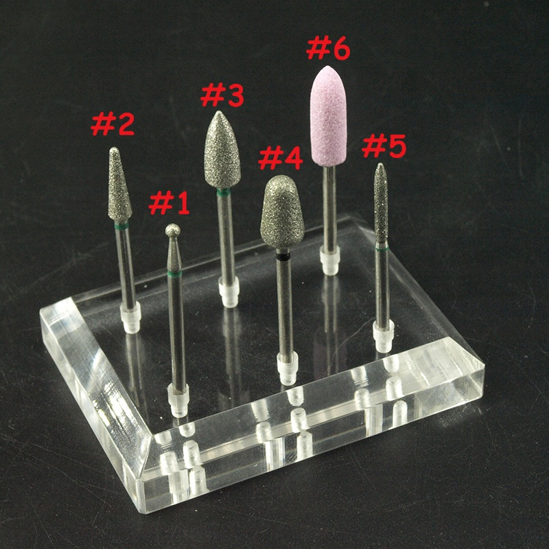 EasyNail~6 Types Diamond Nail Drill Bit Mill Cutter Nail