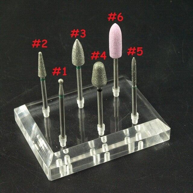 Easynail ~ 6 tipos diamante Brocas molino cortador Limas uñas ...