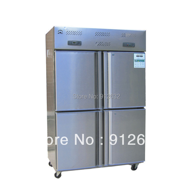 4 door vertical cold refrigerator freezer kitchen for Stainless steel kitchen cabinet price