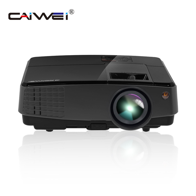 CAIWEI Portable Mini LED Beamer Home Theater Projector Android Wifi wireless connection HD Video Movie Game HDMI VGA USB